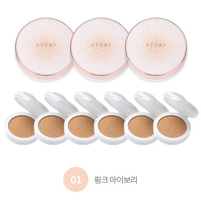 애터미 골드 콜라겐 앰플 쿠션 01 핑크 아이보리 (9개입)